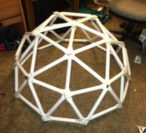 Assembled Geodesic Dome